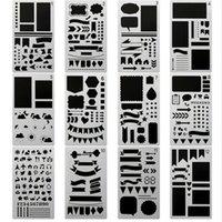 diy günlük defteri toptan satış-20 adet / takım Bullet Dergisi Stencil Seti, DIY Boyama Çizim Dizüstü Günlüğü Defteri Planlayıcısı Programı Zanaat Projeleri için Püskürtme Şablonları