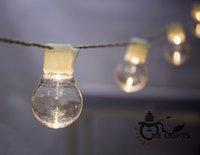 lampe suspension à billes achat en gros de-Nouveauté éclairage extérieur 5cm LED White Ball lampes à chaîne White Wire Christmas Lights fée mariage jardin pendentif guirlande