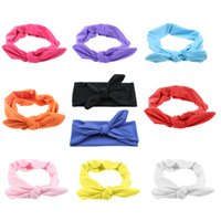 Wholesale purple butterfly hair accessories resale online - 10Pcs Baby Girl Butterfly Bow Hairband Turban Knot Headband Hair Band Accessorie Set Children Headwear Baby Hair Accessories