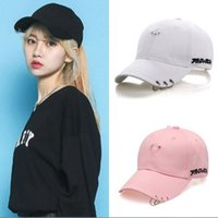 Wholesale cool korean boy - Korean version of the summer hoop baseball cap cotton duck hat men and women sports fashion cool iron ring hats