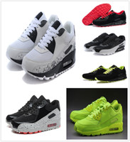 Wholesale Womens Flower Shoes - New Air Womens Running Shoes Sport Original Cheap Classical Air Cushion 90 Sports Shoes Women Flat Breathable Flowers Sneakers Size 40-45