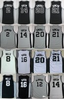 Wholesale flash for sale - Hot Sale 8 Patty Mills Black White Gray Uniforms 14 Danny Green 21 Tim Duncan Jerseys For Sport Fans Free Shipping Stitched Size S-3XL