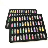 ingrosso vendita di polvere acrilica-2018 Sale New Glitter Dust 48 bottiglie / pack Colori diversi Nail Glitter polvere Dust Art Decoration Set di strumenti in polacco acrilico