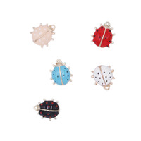 Wholesale accessories animal shape online - 120pcs set colorful ladybird shape pendant earrings Earring stud DIY hand made accessories