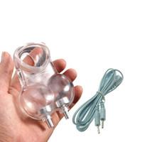 elektro-keuschheit käfig gerät großhandel-Elektroschock Zubehör Männlichen Flexible Scrotal Gebunden Cockring Penis Ring Keuschheit Verzögerung Cock Cage Hodensack Ring Sex Toys