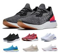 Wholesale race knitting - New Epic React Running Shoes White Mens Womens A1 Instant Racing Runner Boost Fly Knit Breath Comfortable Sport Outdoor Femme Tennis Sneaker