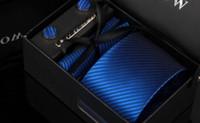 ingrosso scatole del gemello-Tie Set marca legami dei mens causale tessute jacquard legami per gli uomini Fazzoletto gemello business Di alta qualità Gift Box