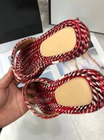 Wholesale cotton logos design - Top Brand Sandals Original Quality Slippers With Box Big Logo Design Causal Slide Huaraches Flip Flops Loafers
