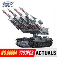 Wholesale Military Toys Tanks - Xingbao 06004 1753Pcs The Military Series The SA-3 missile and T55 Tank Set Children Educational Building Blocks Bricks Toys
