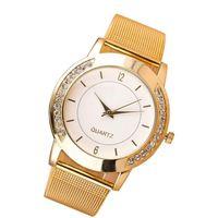 женва серебряные женские часы оптовых-Women Watches Geneva Silver  Top  Mujer Stainless Steel Fashion Sport Watch Women Bracelet for Watch Ladies 18Jul20