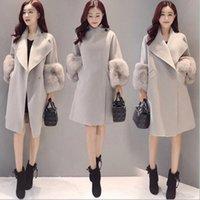 Wholesale womens wool coats - Womens Parka Casual Coat Women Fur Coats Woman Clothes Cloak shawl jacket MNA