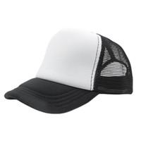 chapéus pretos lisos venda por atacado-13 Cor Moda Verão Vermelho Preto Plain Trucker Mesh Hat Snapback Boné de Beisebol Em Branco Tamanho Ajustável