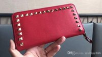 Wholesale finish standards - AAAAA Women Long Wallets,Zip Closure,Internal 12 Card Slots,2 Flap Pockets,Platinum-finish studs,with Box Dust Bag,Free Shipping