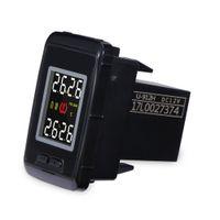 sensor tpms inalámbrico al por mayor-Sistema de monitor de presión de neumáticos del coche del sensor inalámbrico TPMS de Pershn U912 con 4 sensores externos Pantalla digital de temperatura para TOYOTA