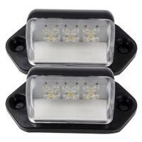 ingrosso luci posteriori universali per camion-Universale Rear Tail Lampada LED targa luce targa lampada 12V per auto camion rimorchio camion auto-styling 1 coppia 3LEDs