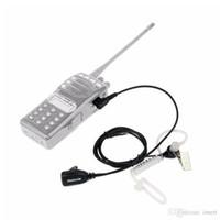 gizli telsiz konuşmaları toptan satış-Retevis 2 Pin PTT MIC Kulaklık Gizli Akustik Tüp Kulak Kulaklık Kenwood Walkie Talkie Baofeng CB Radyo Aksesuarları C9003A