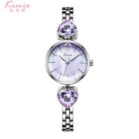 Wholesale cheap ladies wrist watches online - Heart shaped crystal diamond watch luxury brand bracelet wrist watches vantage gift dress ladies watch fashion style cheap price clock