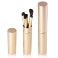 cosméticos, tubos, escova venda por atacado-O.TWO.O 5 pcs Conjunto de Pincéis de Maquiagem Em Pó Blush Foundation Sombra Delineador Lip Kit Escova Cosmética Ferramentas de Beleza Com Tubo de Ouro