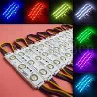 Wholesale rgb smd led module for sale - Group buy 5050 RGB LED Module Light Strip Tape LEDs SMD Injection Molding White PVC V Waterproof Color Change for Advertising Sign