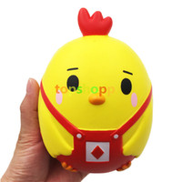 Wholesale cute chicken toys for sale - Kawaii Squishy Pink Chick Chicken Slow Rising Cute Phone Straps Retail Package Bread Cake Cream Scented Fun Kids Toy Gift