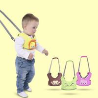 bebek yürümeye başlayan kemeri toptan satış-Bebek Öğrenme Yürüyüş Yardımcısı Kemer Karikatür Çocuklar Yürüyor Tasma Sling Boy Kızlar Ayarlanabilir Bebek Emniyet Kemeri Demeti