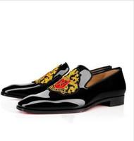 marca sapatos de festa homens venda por atacado-Designer de marca Red Bottom Shoes Men Mocassins Vestido Dandelion Oxfords Do Casamento Do Noivo Sapatos de Festa Hombre