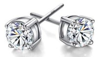 Wholesale stud 2mm for sale - Group buy hot sale Solid Sterling Silver CZ Ear Piercing Studs Earrings Round Cut Cubic Zirconia Men Women Stud Earring Jewelry Gifts mm mm mm