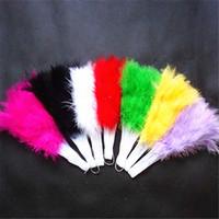 гусиные перья оптовых-Новый!Зеленый розовый черный перо складной вентилятор 21 кости вентилятор для производительности танцы рука гусиное перо складной вентилятор