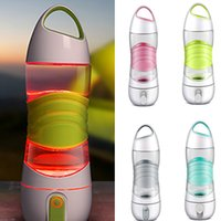Wholesale press night light - New Arrival DIDI Remind Drink Water Bottle LED Outdoor Sport Mug Cup For Spay Moisturizing light Night Sos Emergency Kettle 4 Color HH7-362