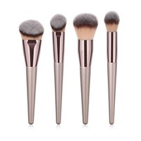 Wholesale best professional cosmetic brush set for sale - Group buy 4Pcs set Makeup Brushes Set Professional Cosmetic Brush Powder Foundation Make Up Brush Set The Best Quality T04024