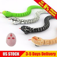 Wholesale remote snake - IR RC Ratlesnake Snake Centipede Bionic Reptile Animal 3CH Infrared Remote Radio Control Snakes Chilopod Scolopendra Tricky Brains Toys
