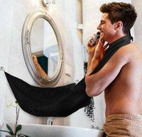 adornos para el cabello al por mayor-Barba Delantal Cape Bib Cabello Whisker Adornos Aseo Catcher Baño Delantal Barba Hair Bib Catcher Afeitado Trimmer Delantal Bata Bata KKA1277