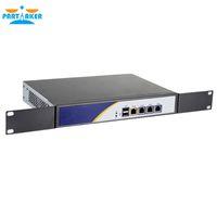 mini cortafuegos al por mayor-Intel D525 Firewall Appliance 4 Gigabit Ethernet LAN RJ45 VGA 2xUSB 3.0 pfSense Router Mini PC