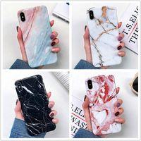 iphone transparente schale großhandel-Luxus dicke TPU Shell Soft Cover Telefon Marmor Fall für iPhone 11 Pro 2019 XS Max XR X 6 6S 7 8 Plus