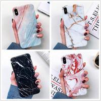 zurück gehäuse design großhandel-Luxus dicke tpu shell weiche gehäuse zurück abdeckung telefon marmor design case für iphone xs max xr x 6 6 s 7 8 plus