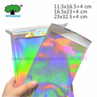 Wholesale clothes mail for sale - Group buy Self seal Adhesive Courier Bags Laser Holographic Plastic Poly Envelope Mailer Postal Shipping Mailing Bags Cosmetic Underwear