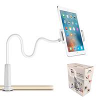 ipad halter für schreibtisch großhandel-360º Schwanenhals Faul Bett Schreibtisch Halterung Ständer Halter für iPad Kindle Android Tablet mit Kleinkasten