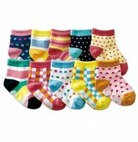 meias menino chinelo sapatos venda por atacado-Recém-nascido Kid Meias 20 pc = 10 pairs Bebê Meias Anti Slip Caráter Meias de Algodão Novidade Sapato Presentes Para O Bebê Menino E Menina chinelo