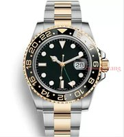 Wholesale reloj water resistant for sale - Black Ceramic Bezel AAA Luxury Brand Automatic Watch Stainless Steel Clasp Mens Fashion Master Watches Original Clasps Reloj Wristwatch