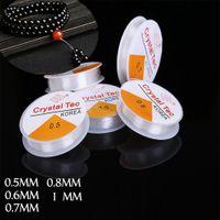 seil armbänder diy großhandel-Multi-size Transparente Ausdehnungs-elastische bördelnde Seil-Schnur / Schnur / Gewinde für die Schmucksachen, die DIY Halsketten-Armband 5pcs / set bilden