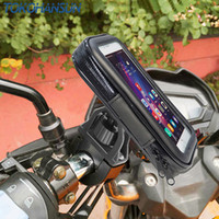 Wholesale telephone phone holder for sale - Group buy Motorcycle Phone Holder Support Telephone Mobile Stand for Moto Support for HUAWEI Redmi x Universal Bike Holder Waterproof Bag C18110801