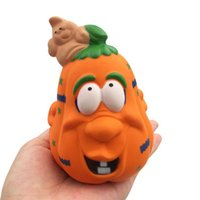 Wholesale halloween jokes toy for sale - Group buy DHL Practical Jokes Simulation cm Pumpkin ice cream Squishy Slow Rising Halloween Squeeze toys Decompression Kids Toy cartoon Novelty toys