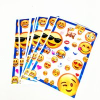 Wholesale Candy Kids Favors Bags - 10PCS LOT EMOJI LOOT BAGS KIDS BIRTHDAY PARTY FAVORS BABY SHOWER CANDY BAGS KIDS FAVOR EMOJI LOOT BAG