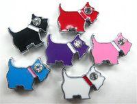 köpek kemer nakliye toptan satış-Ücretsiz kargo 50 adet-100 adet 8mm Mix Renk Köpek Slayt Charms DIY Charms Fit Pet Yaka Bileklikler Kemerler
