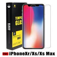 caja de cristal templado xperia 2.5d al por mayor-Para iPhone Xs Max Xr Protector de pantalla de cristal templado de calidad superior BestPrice 0.2MM 2.5D Envío dentro de 1 día