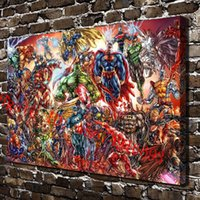 Wholesale Framed Comic - DC Universe and Marvel Comics , Canvas Pieces Home Decor HD Printed Modern Art Painting on Canvas (Unframed Framed)
