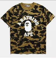 Wholesale Japanese Wear - Japanese Foreign Trade Tide Brand Camouflage Printing Men's Wear Short Sleeve T Pity 2016 Spring Summer Wear Man Will Code Rendering Unlined