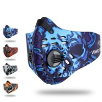 Wholesale cycling anti pollution mask for sale - Group buy 2018 New Men Women Road MTB Bicycle Mask Activated Carbon Dust proof Bike Cycling Face Mask Training Anti Pollution Ski Snowboard Masks US89