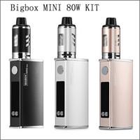 Wholesale Mini Led Kit - Newest BIGBOX mini 80W 2200mah Battery Vape Mod Box Vaper Never Leak LED Smoking Kit Mechanical Cigarettes