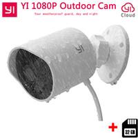 Wholesale outdoor webcam ip wifi resale online - Xiaomi YI Outdoor Security Camera P FHD Wireless WIFI IP Cloud Camera Waterproof Night Vision Security Surveillance WebCam
